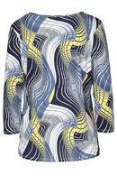 T-shirt met geometrische print en een juweelhals, Anijs