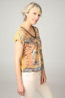 T-shirt met zebraprint, Oker