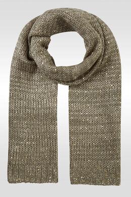 Sjaal in grote steken met lovertjes, Kaki