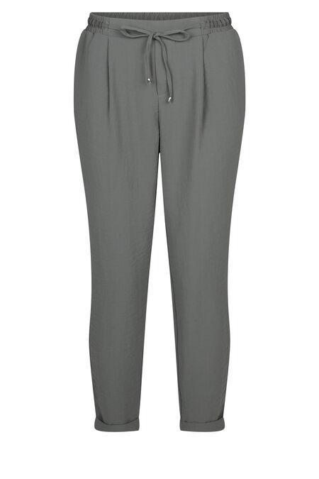 Pantalon fluide uni - Kaki