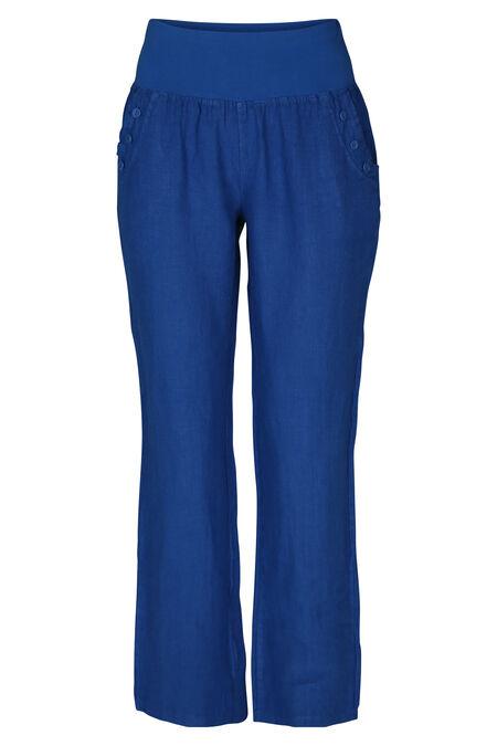 Linnen broek - Koningsblauw