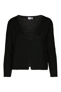 Cardigan in lurextricot, Zwart