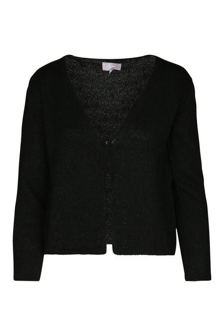 Cardigan in lurextricot - Zwart