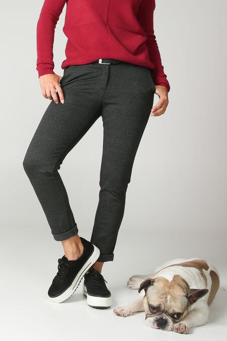 Pantalon milano à carreaux - Anthracite