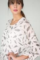 Sweater met pluimenprint, huidskleur
