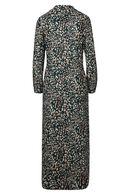 Robe chemise longue imprimé léopard, Vert bouteille