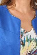 Jasje in suèdine effect, Koningsblauw