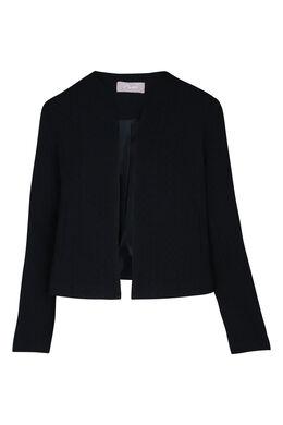 Klassiek, open jasje, Marineblauw
