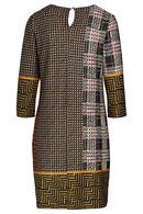 Robe housse mix imprimés géométriques, Caramel