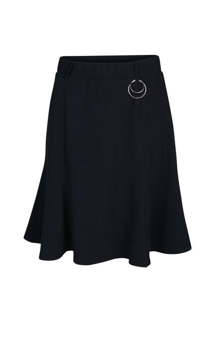 Uitlopende rok in tricot - Marineblauw