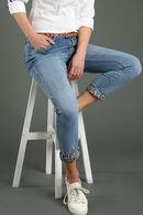 Jeans slim détails léopard, Denim
