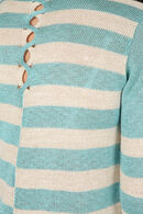 Pull à rayures, Turquoise