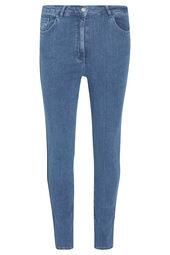 Slim jeans met glinsterende stroken