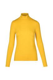 T-shirt lange mouwen en opstaande strikkraag