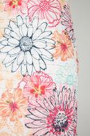 Robe maille à volants imprimé fleurs, Rose