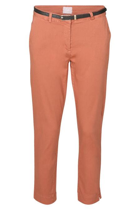 Pantalon coton uni - Vieux rose