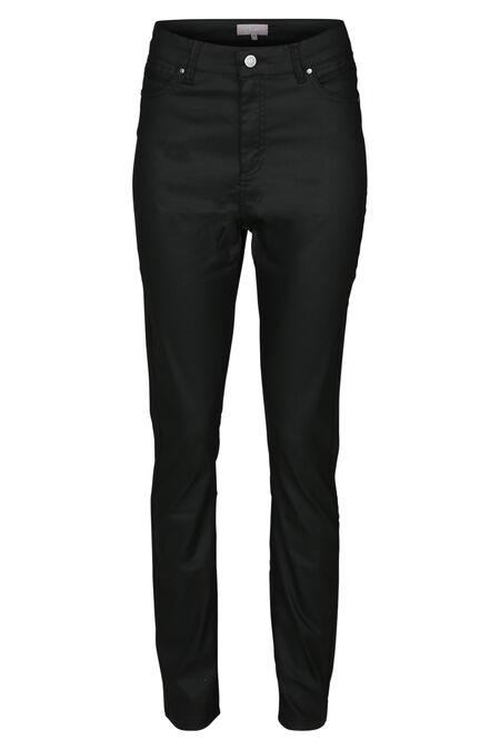 Pantalon en enduit taille haute - Noir
