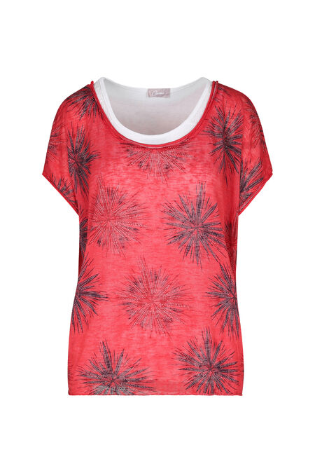 Sweater-T-shirt 2-in-1 - Fushia