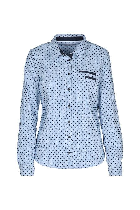 Katoenen hemd met print - Blauw