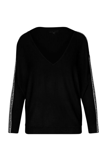 Pull bandes strass - Noir