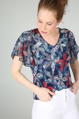 T-shirt met fantasieprint, Appelblauwzeegroen