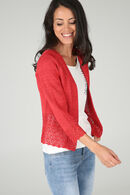 Cardigan in lurextricot, Rood