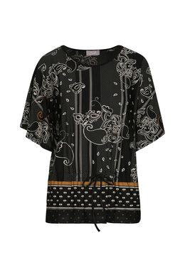 T-shirt met kasjmierprint, Oker
