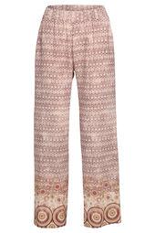 Soepele broek met een etnische print