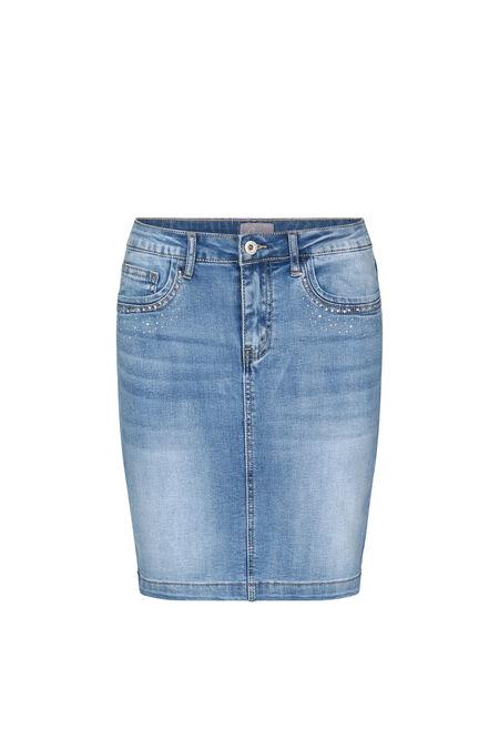 Jupe en jeans avec strass - Denim