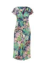 Lange jurk met een bladprint